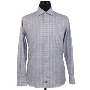 David Donahue L/S Button Front Shirt Medium